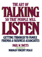 The Art of Talking So That People Will Listen