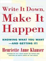 Write It Down Make It Happen