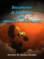 Documents de fondation des Missions Africaines
