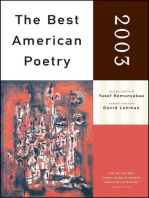 The Best American Poetry 2003