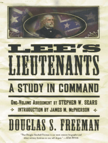 Lee's Lieutenants Third Volume Abridged: A Study in Command