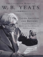 The Collected Works of W.B. Yeats Vol X