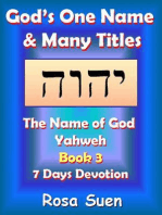 God's One Name & Many Titles