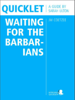 Quicklet on JM Coetzee's Waiting for the Barbarians (CliffNotes-like Book Summary and Analysis)