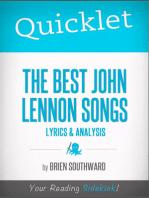 Quicklet on The Best John Lennon Songs