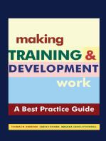 Making Training & Development Work