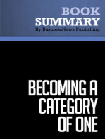Becoming a Category of One  Joe Calloway (BusinessNews Publishing Book Summary)