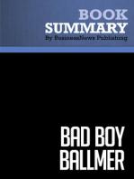 Bad Boy Ballmer  Fredric Maxwell (BusinessNews Publishing Book Summary)