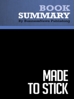 Made to Stick  Chip and Dan Heath (BusinessNews Publishing Book Summary)