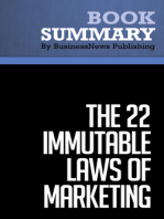 The 22 immutable laws of marketing  Al Ries and Jack Trout (BusinessNews Publishing Book Summary)
