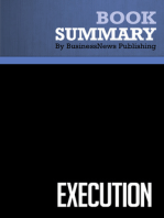 Execution  Larry Bossidy and Ram Charan (BusinessNews Publishing Book Summary)