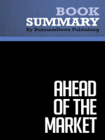 Ahead of the Market  Mitch Zacks (BusinessNews Publishing Book Summary)