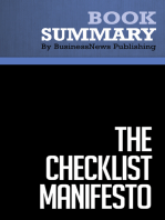 The Checklist Manifesto  Atul Gawande (BusinessNews Publishing Book Summary)