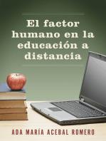 El factor humano en la educación a distancia