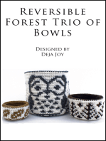 Reversible Forest Trio of Bowls