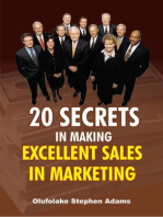 20 Secrets In Making Excellent Sales In Marketing