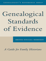 Genealogical Standards of Evidence: A Guide for Family Historians