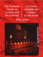 The Supreme Court of Canada and its Justices 1875-2000