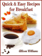 Quick & Easy Recipes for Breakfast