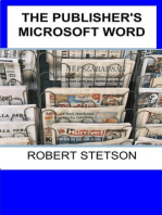 THE PUBLISHER'S MICROSOFT WORD COURSE