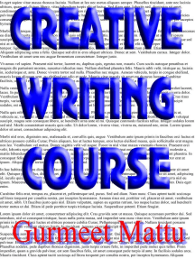 Creative Writing Course