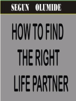 How To Find The Right Life Partner