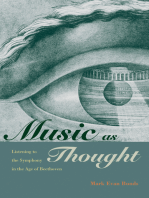 Music as Thought