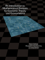 An Introduction to Mathematical Analysis for Economic Theory and Econometrics