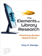 The Elements of Library Research