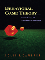 Behavioral Game Theory