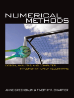 Numerical Methods: Design, Analysis, and Computer Implementation of Algorithms