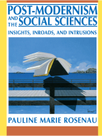 Post-Modernism and the Social Sciences: Insights, Inroads, and Intrusions
