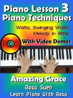Piano Lesson #3 - Piano Techniques - Waltz, Swinging Waltz, Melody in 6ths with Video Demos to Amazing Grace: Learn Piano With Rosa