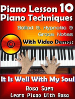Piano Lesson #10 - Piano Techniques - Ballad 9, Hypnotic 9, Grace Notes with Video Demos - It is Well With My Soul