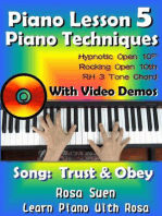 Piano Lesson #5 - Piano Techniques - Hypnotic Open 10th, Rocking Open 10th, RH 3 Tone Chords with Video Demos to the song Trust and Obey