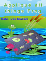 Appliqué all things Frog