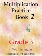 Multiplication Practice Book 2, Grade 3