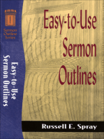 Easy-to-Use Sermon Outlines (Sermon Outline Series)