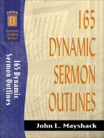 165 Dynamic Sermon Outlines (Sermon Outline Series)