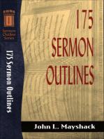 175 Sermon Outlines (Sermon Outline Series)