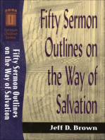Fifty Sermon Outlines on the Way of Salvation (Sermon Outline Series)