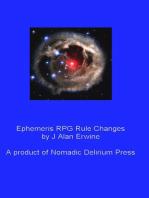 Ephemeris RPG Rule Changes