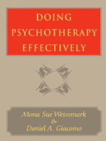 Doing Psychotherapy Effectively