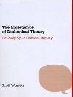 The Emergence of Dialectical Theory