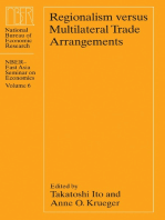 Regionalism versus Multilateral Trade Arrangements