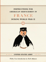 Instructions for American Servicemen in France during World War II