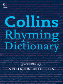 Collins Rhyming Dictionary by Rosalind Fergusson and Andrew Motion ... 006444664b