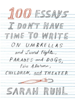 100 Essays I Don't Have Time to Write