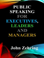 Public Speaking for Executives, Leaders & Managers