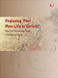 NLDC2-Chinese-Beginning Your New Life in Christ